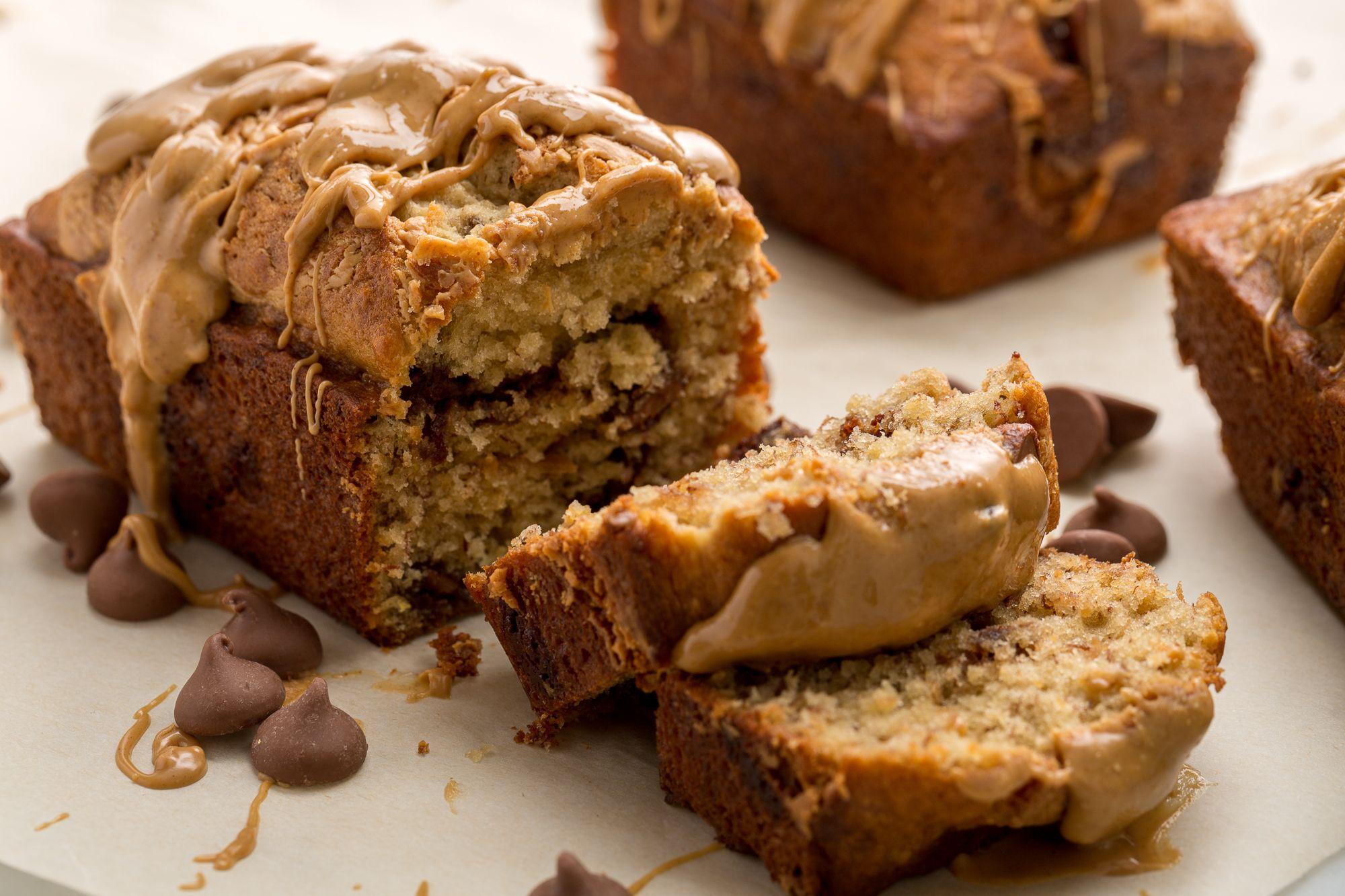 Peanut Butter Banana Bread Recipe