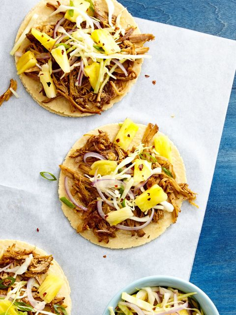 Pulled Pork Tacos with Pineapple Slaw