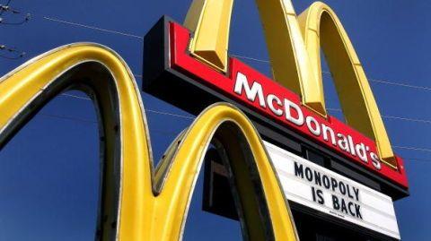 McDonald's monopoly is back.