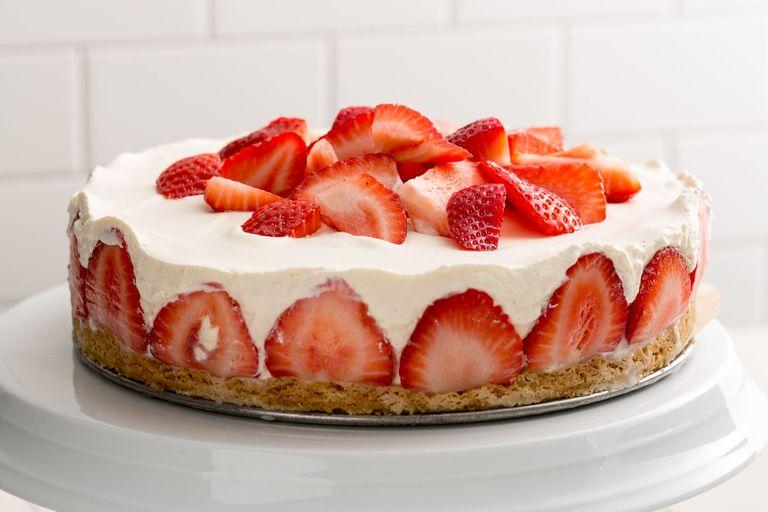 Strawberry Shortcake Cheesecake Recipe Delish Com