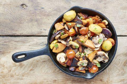 Wood, Food, Produce, Ingredient, Kitchen utensil, Vegetable, Meal, Scissors, Cutlery, Serveware,