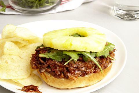 Slow Cooker Hawaiian Pulled Pork Sandwiches
