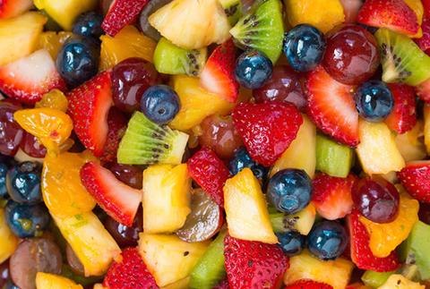 Food, Sweetness, Yellow, Natural foods, Fruit, Produce, Fruit salad, Frutti di bosco, Salad, Strawberries,