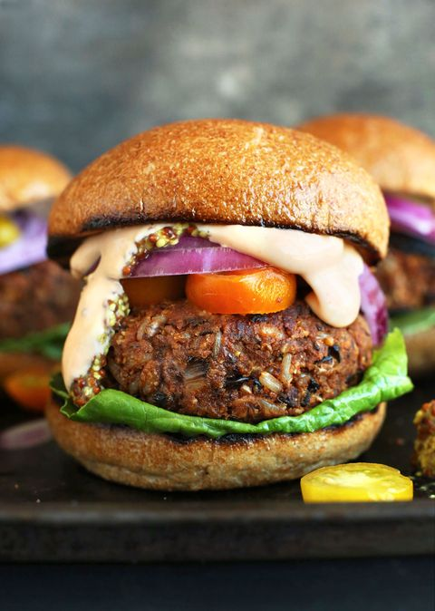 Dish, Food, Cuisine, Hamburger, Veggie burger, Buffalo burger, Ingredient, Slider, Bun, Patty,
