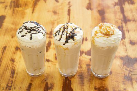 Food, Cuisine, Dessert, Dairy, Ingredient, Snack, Espresso con panna, Milkshake, Frozen dessert, Whipped cream,