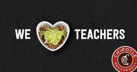 Chipotle Teacher Appreciation Day