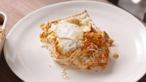 Matzoh Lasagna Piece