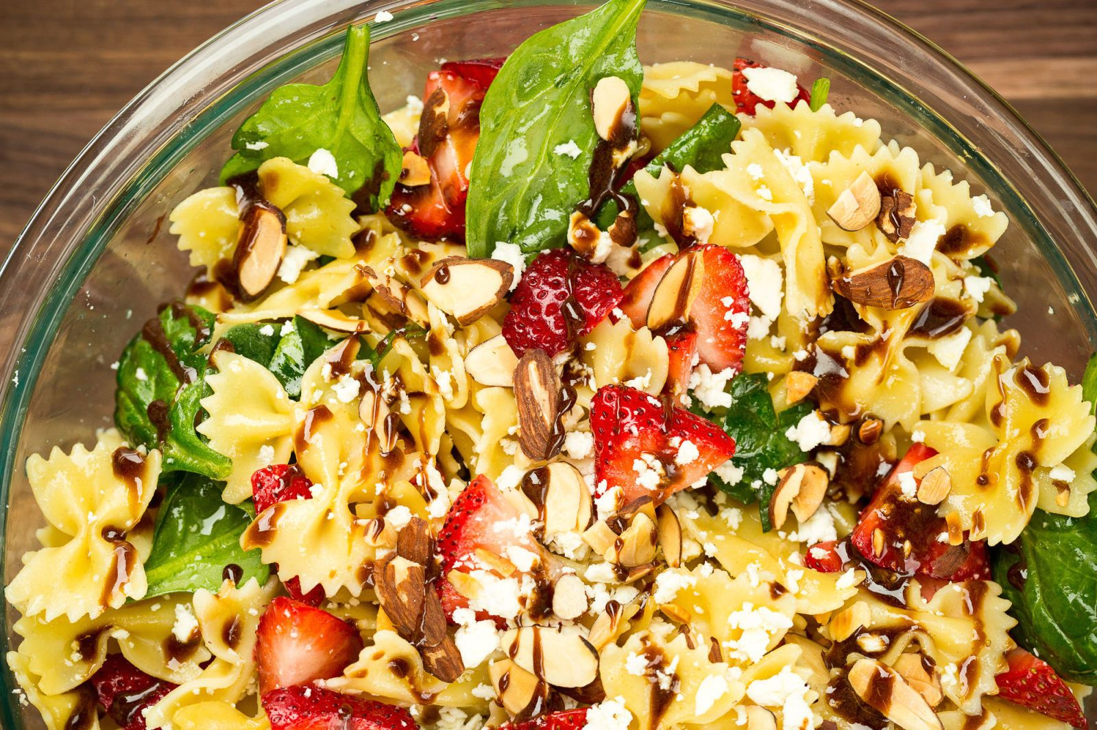 easy strawberry pasta salad recipe perfect for a summer picnic