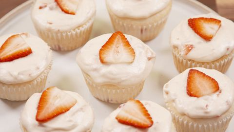 Strawberry Mimosa Cupcakes