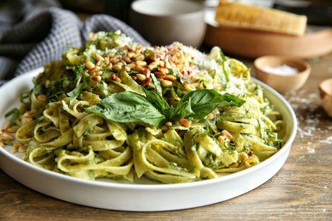 Avocado Pesto Fettuccine Recipe