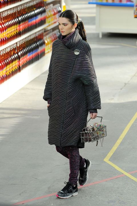 Kendall Jenner grocery shopping for Chanel runway.