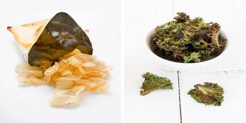 Potato vs. Kale Chips