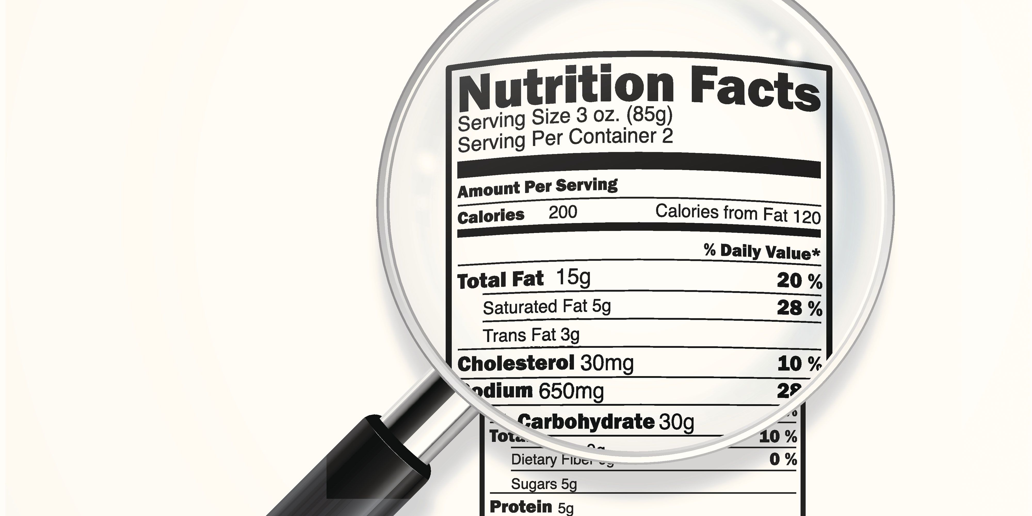 Look For This On A Nutrition Label If You\'re Trying To Lose Weight ...