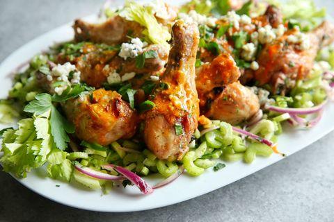 Buffalo Chicken Drumsticks with Celery Salad Recipe