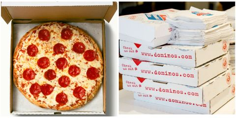 Food, Cuisine, Ingredient, Baked goods, Dish, Recipe, Pizza, Box, Dairy, Pepperoni,