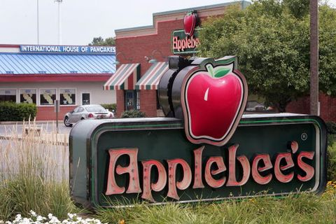 Signage, Logo, Produce, Groundcover, Sign, Gas, Coquelicot, Fruit, Apple, Natural foods,