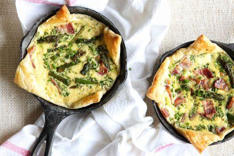 Bacon Asparagus Mini Quiches Recipe