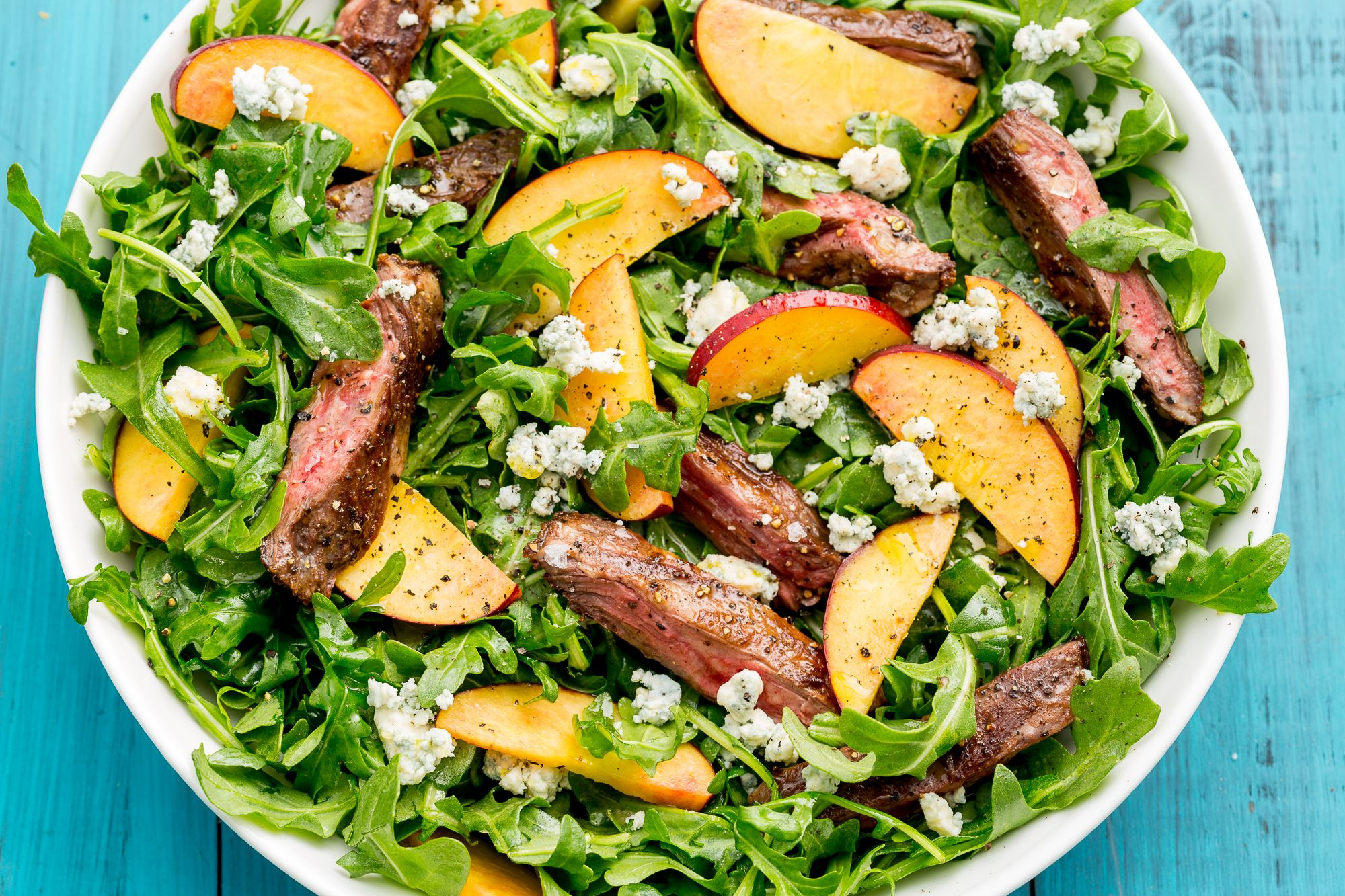 Best Balsamic Grilled Steak Salad With Peaches How To Make Balsamic Grilled Steak Salad With Peaches
