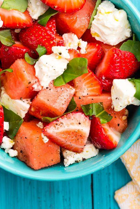 watermelon salad with feta