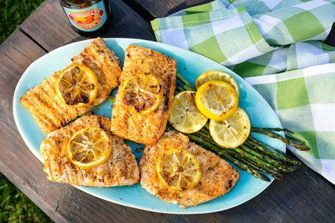 Lemony Grilled Salmon Recipe