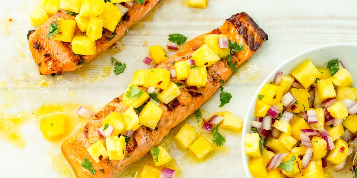 Best Grilled Salmon With Pineapple Salsa Recipe Delish Com