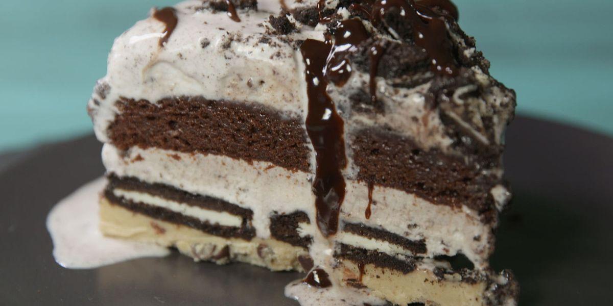 Best Slutty Brownie Ice Cream Cake Recipe How To Make