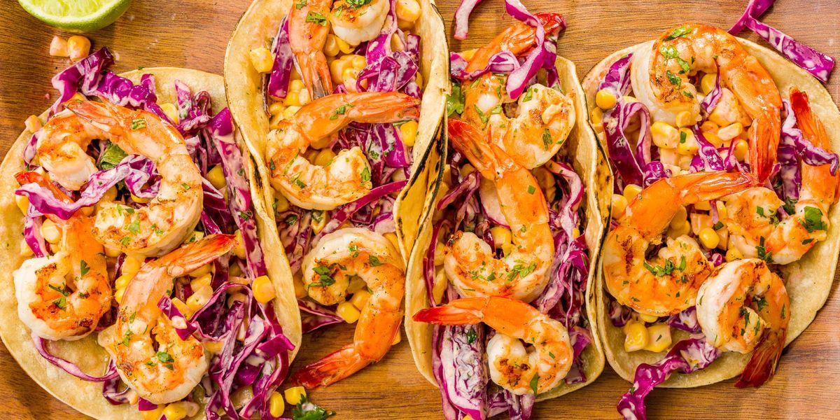 Best Grilled Shrimp Tacos With Sriracha Slaw Recipe