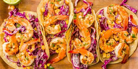 Grilled Shrimp Tacos with Sriracha Slaw Recipe