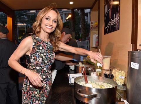Giada De Laurentiis cooking