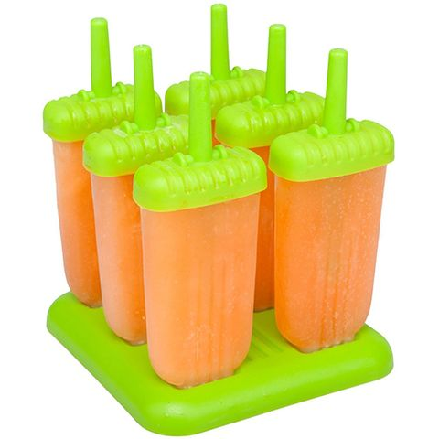Pink and green popsicle mold