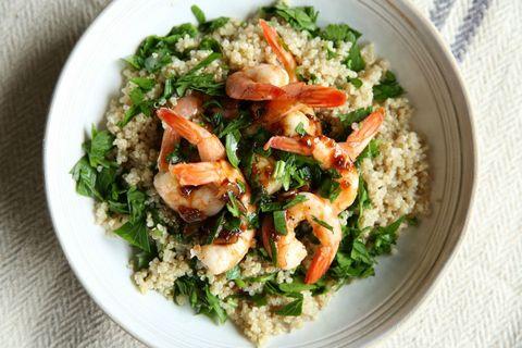Balsamic-Glazed Shrimp with Quinoa Recipe