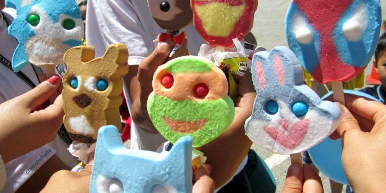 Blue bunny character ice cream