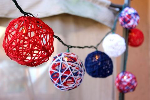 Blue, Red, Christmas decoration, Carmine, Fashion accessory, Natural material, Ornament, Craft, Creative arts, Interior design,