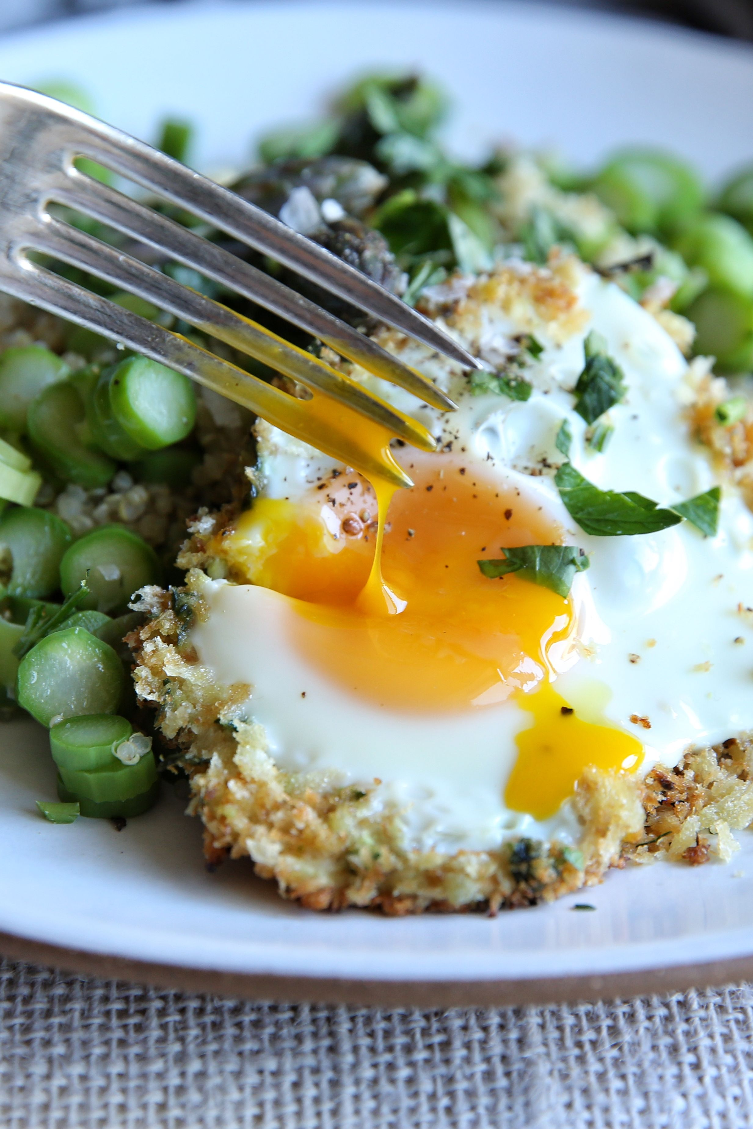 Asparagus Quinoa with Fried Egg Recipe