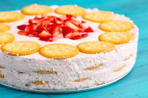 Strawberry Ritz Cake