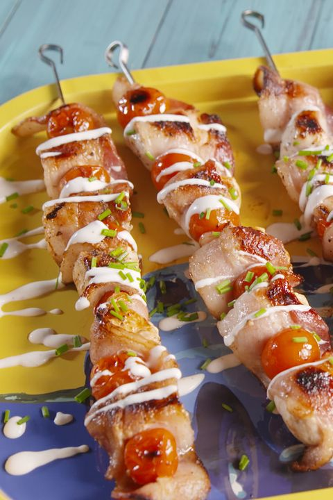 chicken bacon ranch skewers