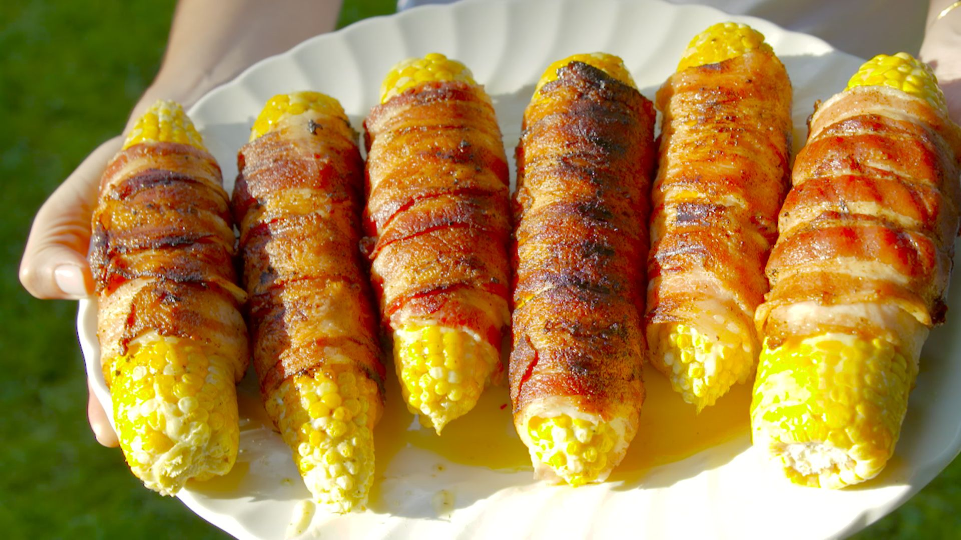 best bacon wrapped grilled corn recipe how to make bacon wrapped