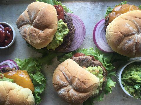 Guacamole Cheeseburger with Chipotle Ketchup Recipe