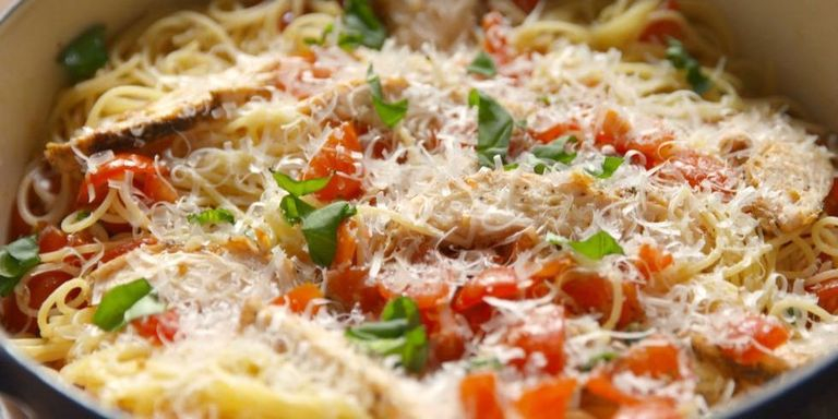 30 easy chicken pasta recipes light pasta dishes with chicken chicken brushetta pasta forumfinder Choice Image
