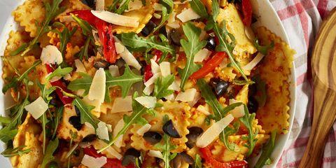 Red Pepper Pesto Ravioli Pasta Salad Horizontal