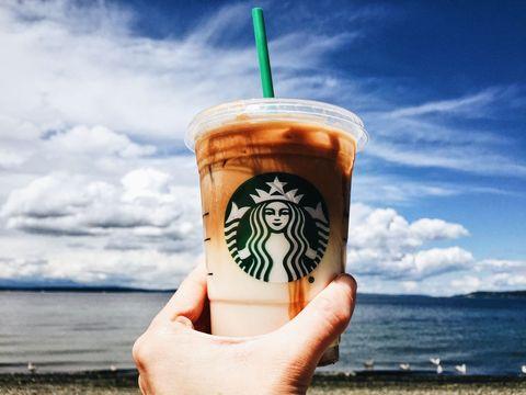 Finger, Drinkware, Drink, Coastal and oceanic landforms, Drinking straw, Coffee, Cup, Ocean, Shore, Coffee milk,