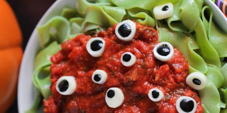 30 halloween dinner ideas for kids recipes for halloween dinner eyeball pasta forumfinder Image collections