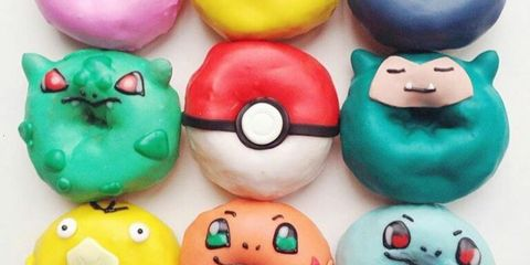 Ingredient, Facial expression, Toy, Teal, Dessert, Snack, Confectionery, Collection, Fictional character, Finger food,