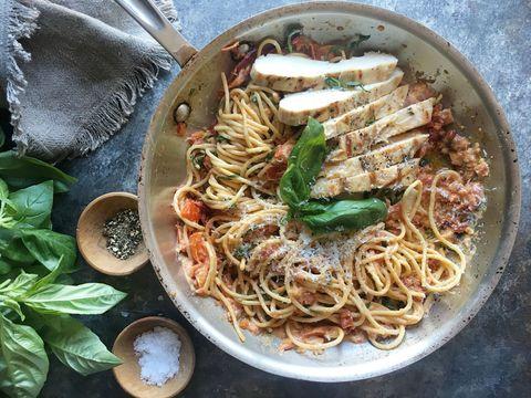 Sundried Tomato–Chicken Spaghetti Recipe