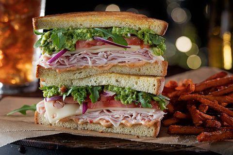 Food, Finger food, Sandwich, Baked goods, Cuisine, Leaf vegetable, Dish, Breakfast, Vegetable, Fast food,