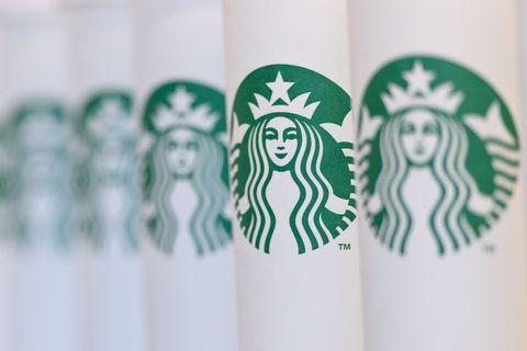 Starbucks logos on cups