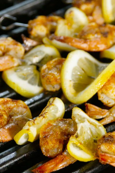 grilled cajun shrimp skewers