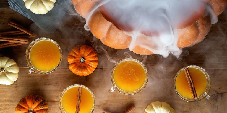 How to make halloween punch with dry ice