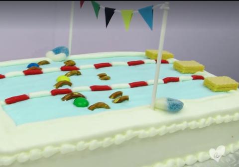 Olympic Pool Cake