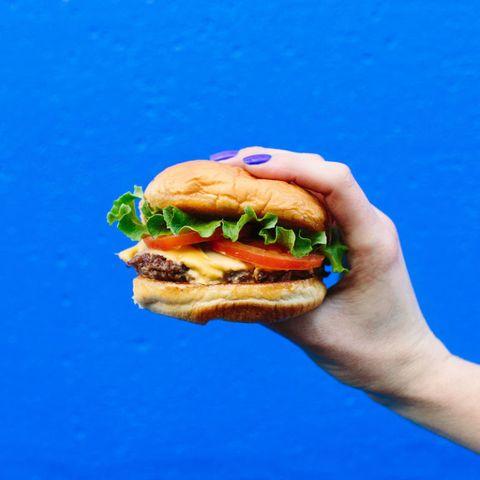Food, Fast food, Hamburger, Junk food, Cheeseburger, Dish, Cuisine, Original chicken sandwich, Whopper, Veggie burger,